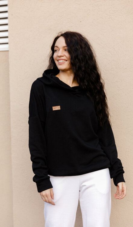 Толстовка Basic Oversize Black Fl