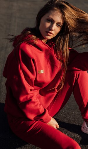 Толстовка Basic Oversize Red Fl